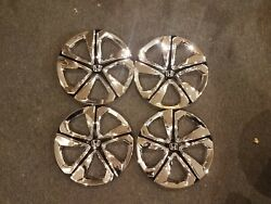 1 New Set 2016 2017 2018 Civic 16 Hubcaps Wheel Covers 55099 Chrome And Black