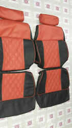 1979-1983 Datsun 280zx Replacement Leather Red/black Seat Covers