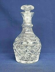 Waterford Cut Crystal Glandore Pattern Liquor Decanter With Stopper Signed Mint