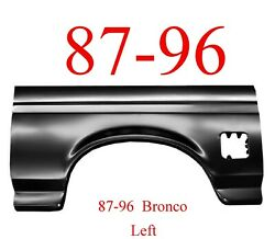 87 96 Bronco Left Full Rear Arch Panel Ford Full Size Wheel Opening
