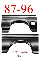 87 96 Bronco Full Rear Arch Panel Set Ford Full Size Wheel Opening Both Sides