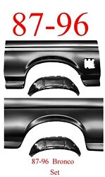 4pc Kit 87 96 Bronco Full Rear Arch And Inner Arch Panel Kit Ford Full Size