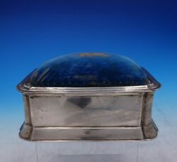 Cs Harris And Sons English Sterling Silver Jewelry Box W/pin Cushion Top 3870
