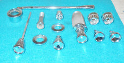 64 1965 1966 Mustang Gt Shelby Orig Dash Switch Knobs Bezels Lever Lighter Radio