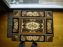 Vintage Floral Jewelry Music Box Italian Marquetry Inlaid Wood Accent Table Big