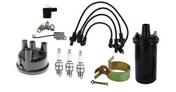 Distributor Cap And Ignition Tune Up Kit W/ 12 Volt Coil Ford 3 Cyl Gas Tractor
