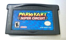 Mario Kart Super Circuit Nintendo Gameboy Advance Gba Game Authentic Tested