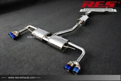 Res Racing Catback With +2 Tips Each Side For Bmw F26 X4 2014- 2.0t / 3.0t