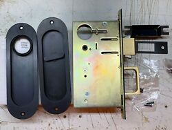 2002-cpdl Combination Pocket Door Lock And Edge Pull Color Us10b