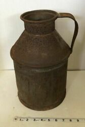 Antique 1928 Cream Can Metal Gridley Dairy Milwaukee With Handle