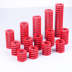 18mm Od Medium Load Compression Stamping Mould Die Spring 9mm Id Red Alloy Steel