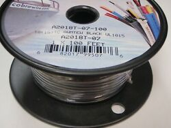 Wire Marine Boat Tinned Copper 18ga Black 100ft Roll 84-505 Wiring Electrical