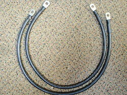 Battery Cable 4 Gauge 24 2ft Black Set Of 2 Cables Wire Tinned Marine Boat Wire