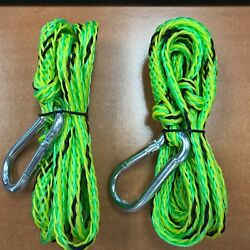 Pwc Dock Line Pair Floating 16 Strand X 7ft Snap Hook 50 40531 Boating Sale New