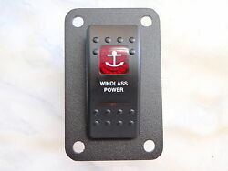 Windlass Rocker Switch Lighted Power On/off With Panel Carling Anchor V1d1 20amp
