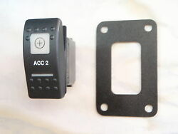 Accessory 2 Switch W/ Psc Panel  V1d1 Black Carling Contura Ii 2 White Lighted