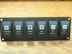 Switch Panel Carling Contura 6 V1d1 G66b Switches Psc61bk Screened Actuators