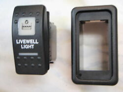 Livewell Light Switch W/ Vms Panel V1d1 Black Carling Contura Ii 2 White Lighted