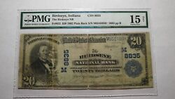 20 1902 Birdseye Indiana In National Currency Bank Note Bill Ch. 8835 Pmg
