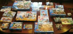 Retired Lego City Bulk Lot Htf 15 Complete Sets 45 Minifigures 20 Lbs 97 Weapons