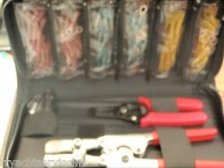 Electrical Terminal Kit Heat Shrink 61332 W/ Crimper Heat Torch Tools Case