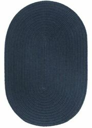 Wearever Durable Country Cottage Home Classic Solid Braided Rug Navy S012