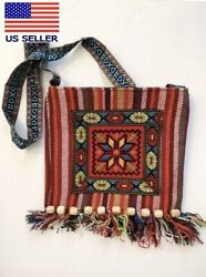 2 Hippie Bags Crossbody women Boho shoulder Small Bags RED GREEN $15.99