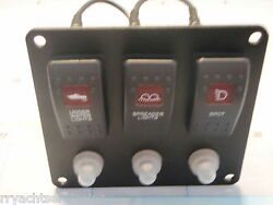 Switch Panel Underwater Spreader Spot Lights Psbc31 Black 10a Breakers Clear