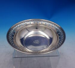 And Co Sterling Silver Candy Dish W/ Pierced Border 20675k-1301 3936