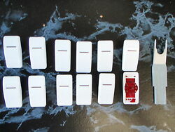 Carling Contura White Actuators 1 Red Lens 12pac With Replacement Tool Vvczy