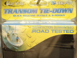 Boat Trailer Transom Tie Downs 74 60073 2ft Safety Straps Pair Quick Release