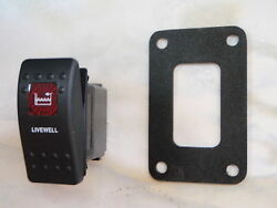 Livewell Pump Switch W/ Psc11 Panel Carling V1d1 1 Red Lens Black Contura Ii