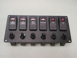 Switch Panel 6 Carling V1d1 G66b Switches And Breakers Psbc61bk Black Red Lens