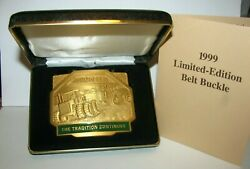 John Deere 9400 And 8010 Tractors 1999 Belt Buckle Tradition Continues 6th Promac