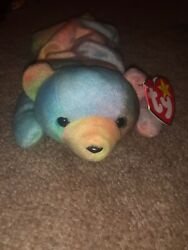 Sammy The Bear Ty Beanie Baby. Tag Errors. Errors In The Face.