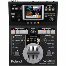 Roland Compact Video Mixer V-4ex 4 Channels 10 Inputs 3 Outputs