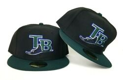 New Era Black Green Tampa Bay Rays Official On-field Gray Bottom Fitted Hat  $35.87