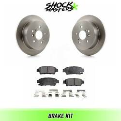 Rear Ceramic Brake Pads And Rotors Kit For 2004-2010 Toyota Sienna