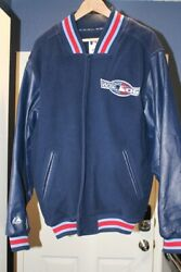 2006 Mlb Authentic World Series Leather Jacket Size L Majestic Vintage Rare