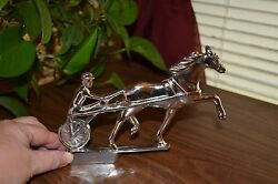 Collectible Metal Horse/driver- Hood Ornament