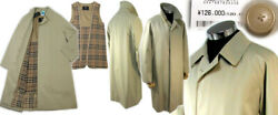 0 Yen Burberry London Back Check Cashmere Stainless Steel Coat 180 Made In Japan