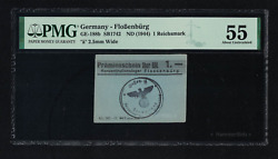 Wwii Germany 1944 Kz Flossenburg 1 Rm Mark Concentration Camp Pmg 55 Ghetto Unc