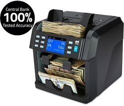Mixed Denomination Bill Counter Sorter Machine Cash Money Currency Counting Zzap