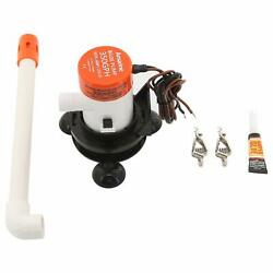 12v 350 Gph Boat Livewell Aeration Pump System Kit And Aerator Tube Clips Cup Base