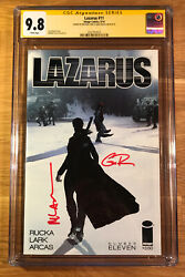 Lazarus 11, Cgc 9.8 2x Ss, Signed By Rucka And Lark, Graded Nm/mt