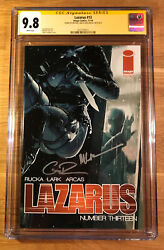 Lazarus 13, Cgc 9.8 2x Ss, Signed By Rucka And Lark, Graded Nm/mt