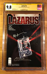 Lazarus 16, Cgc 9.8 2x Ss, Signed By Rucka And Lark, Graded Nm/mt