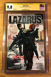 Lazarus 18, Cgc 9.8 2x Ss, Signed By Rucka And Lark, Graded Nm/mt