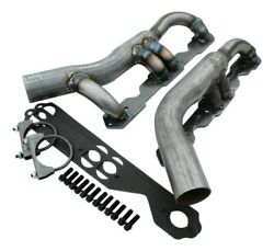 Headers - Shorty - Steel - Natural - Small Block Chevy - 4wd - Gm Compact Truck