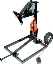 Tire Prep Stand - Electric - 110v - Cart / Foot Pedal / Motor / Wheels - 5 X 5 /